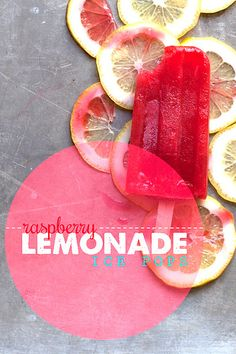 Raspberry Lemonade Ice Pops