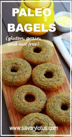 Paleo Bagels (gluten, grain, and nut free) -  savorylotus.com