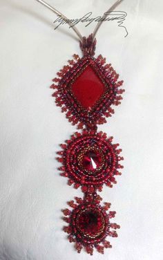 Coral RED One of a Kind Art Piece created by Lynn Parpard on Etsy, $135.00