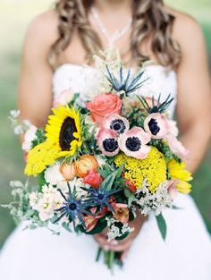 Bright and beautiful wedding bouquet captured by @zenphotography