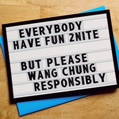 Wang chung tonight!