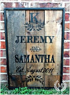wood pallet signs, wood wedding sign, wood signs, wood pallets, wedding pallet ideas sign