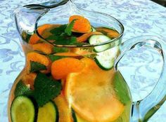 spa water, non alcoholic drinks, healthy stuff, flavored water recipes, flavored waters, leav, mint, infused waters, summer beverages