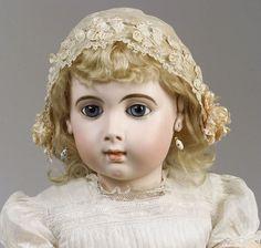 "Large Jumeau Triste ""Long Face"" Bebe, France, c. 1885"