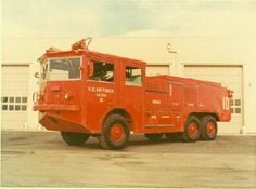 A 011-A crash-fire truck at Chanute AFB in Illinois