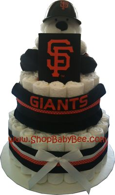 San Francisco Giants Diaper Cake - Baby Shower Gift