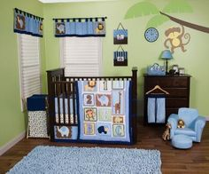 Jungle 123 Crib Bedding  The Jungle 123 Crib Bedding Set combines cute jungle   animals with ABC's and 123's. The modern tiled   layout, beautiful color palette and soft navy   corduroy trim sets this jungle themed collection   apart from the rest. Chevron, dot, stripe, triangle,   and onion prints add trend-right detailing   while shades of cornflower blue, chocolate,   caramel, aquamarine, buttercup, celery,   pistachio and navy create the most enjoyable   and colorful jungle nursery around!