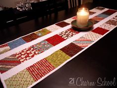 Charming table runner christmas presents, charm tabl, table runner patterns