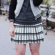Dresses & Skirts - Black & white plaid pleated skirt