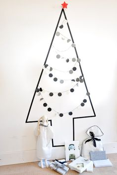 washi tape x'mas tree
