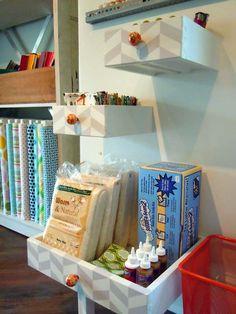 DIY Drawer Shelves For The Kids Room