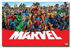 Marvel - Heroes Poster. Currently in my boys room
