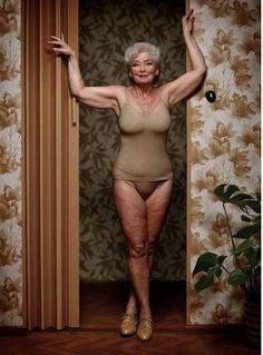 """""""Erwin Olaf - Mature (how often do we see beautiful photography of older adults, emphasizing their bodies and not hiding them?)""""  You know...she is a beautiful older woman. I heard Julia Roberts said, """"How odd is it that we don't know what getting old really looks like?""""  It is what it is.  I would love to see society get """"real"""" : )"""