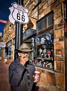 Harmonica Man, Winslow, AZ Route 66