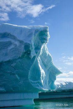A face in the ice, Penola Strait, Antarctica (by Lori Kisla).
