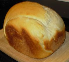 Mock Sourdough Bread (Bread Machine)    This bread has an AWESOME sourdough taste, but you don't need to bother with a complicated, time-consuming starter. We make it in our bread machine ALL the time, especially when we have soup, which is often. I could eat soup 3 me