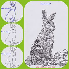 Zentangle Bunny Rabbit...