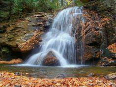Raven Cliff Falls Trail near Cleveland, GA.