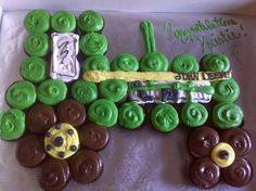 tractor cupcake cake!