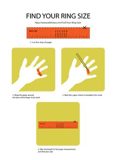 Printable ring sizer- find out how fat your fingers are :)  - wikiHow