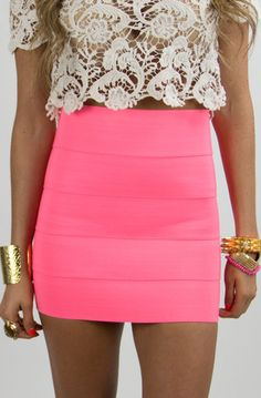 pink neon.