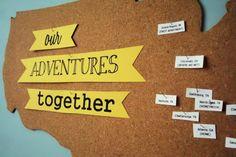 travel ideas cork board.