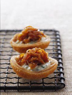 Caramelized Onion Tartlets Photo - Party Hors Doeuvres Recipe | Epicurious.com