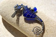 wire wrapped seahorse