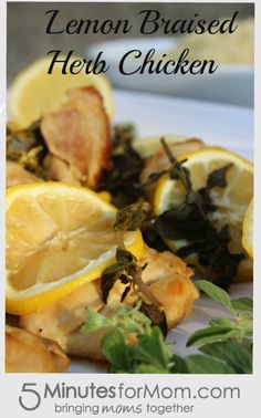 Ask the Domestic Life Stylist: Lemon Braised Herb Chicken. #recipe