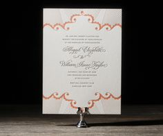 Hopelessly chic with a flair for globally-inspired elegance. Analina letterpress wedding invitation for Bella Figura by Hello Tenfold.