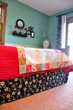 How to make a really easy bedskirt