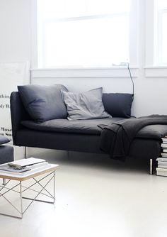 dark sofa and whites | AMM blog