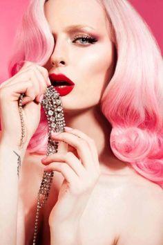 Pink and Diamonds.
