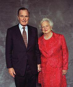 President George H. W. Bush and wife, Barbara