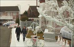 wrap fun, entir street, street wrap, bubbl wrap, bubbles, bubble wrap, wrap appreci