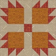 Illinois Turkey Track quilt block design