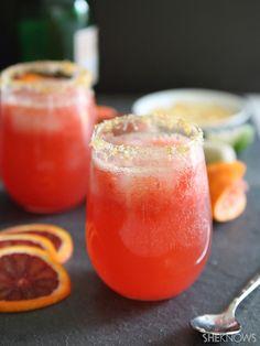 In season: Blood orange ginger spritzer