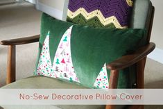 No Sew Holiday Pillow Tutorial | The Borrowed Abode
