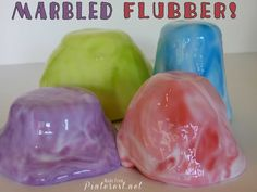 Marbled Flubber put this stuff in the kids easter eggs! Quick and easy to make! #Flubber #Easter