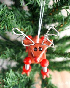Robot Reindeer Geeky Christmas Ornament | handmade by HerArtSheLoves via theawesomerobots.com, $25