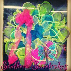 Spring Summer Mesh Butterfly Wreath!