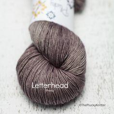 plucky knitter: letterhead