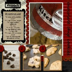 Chocolate Chip Cookies -- cooking/recipe scrapbooking layout