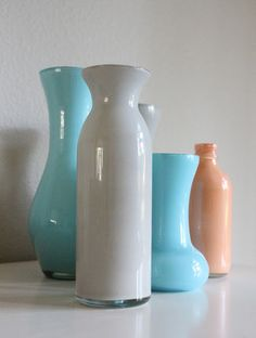 DIY painted vases mason jars bottles
