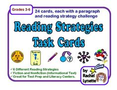 FREE! 24 Reading Strategy Task Cards!