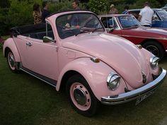 vintage pink beetle