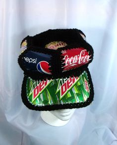 Soda Can Recycle Cap by SmilinMoonWorkshop on Etsy, $15.00