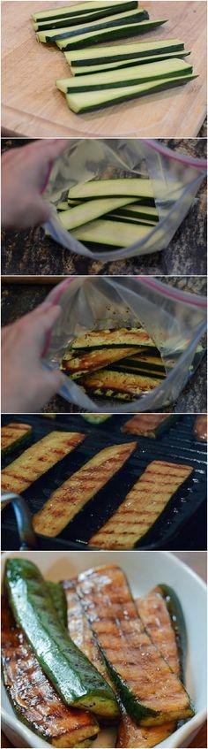 Balsamic Grilled Zucchini