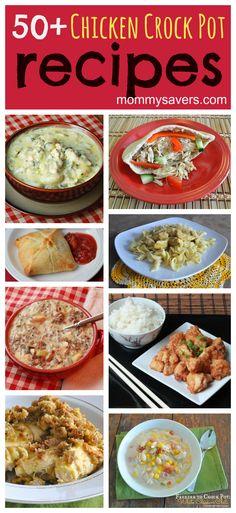 Chicken Crock Pot Recipes:  50  Easy Family-Friendly Recipes