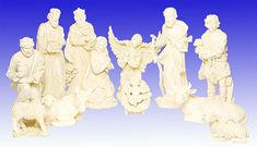 """29"""" Natural/Off-White Resin Figures  OUR EXCLUSIVE!  13 piece Nativity Figure Set  29"""" natural/off-white resin figures with removable Jesus!  We traveled the globe to find this set and are proud to be able to offer it at such a remarkable price! Beautiful for indoor or outdoor use! (Item #53395) $1,295.00  SALE! NOW $695.00"""